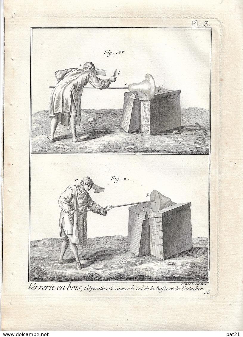 METIER XVIIIe: Verrier, Souffleur De Verre  ,verrerie ....50 Gravures Sur Cuivre De BENARD  1784 - Estampes & Gravures