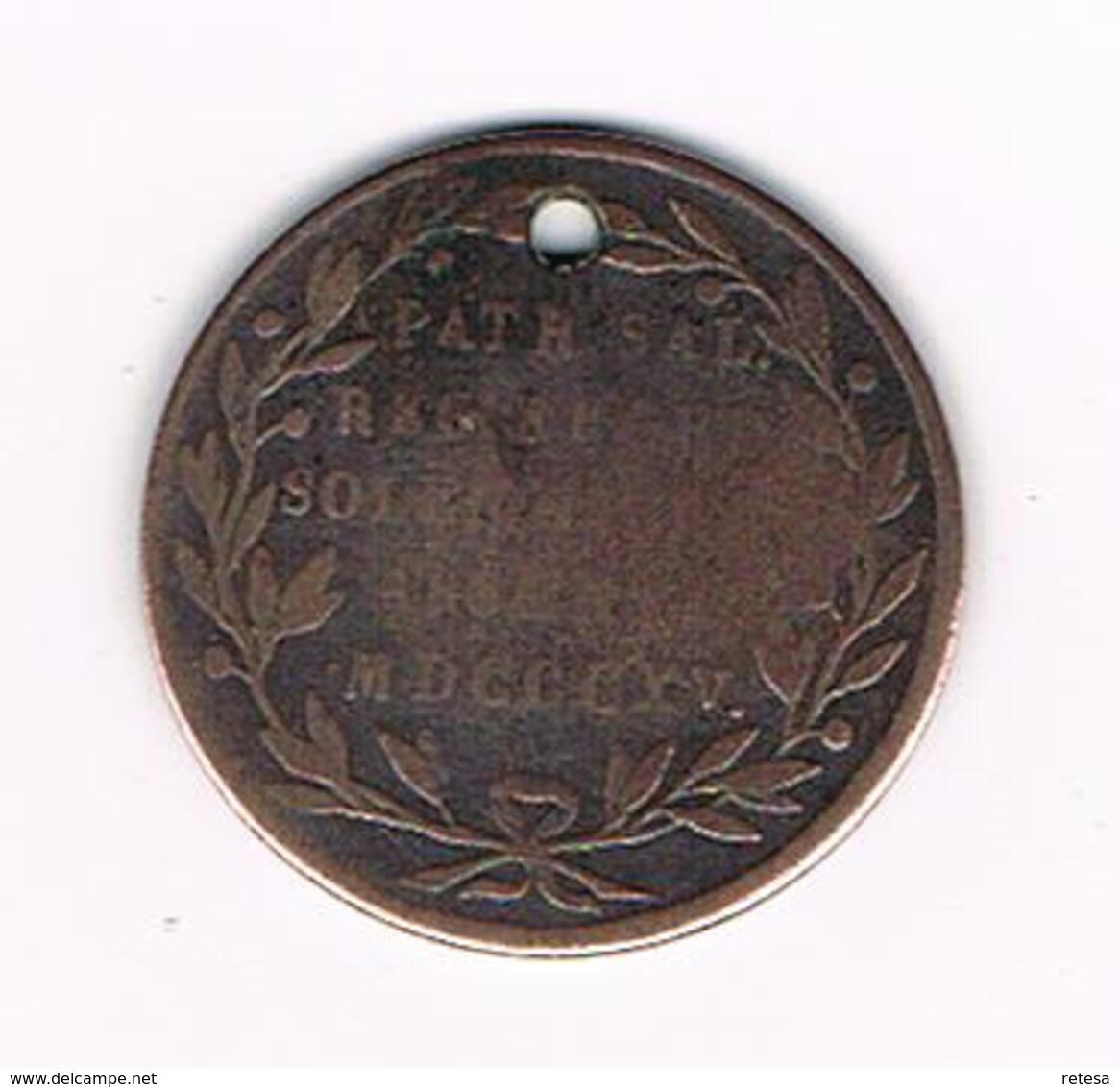 //  HERDENKINGSMUNT WILH.NASS.BELG.REX.LUXEMB.M.DUX MDCCCXV. ( 1815 ) - Pièces écrasées (Elongated Coins)