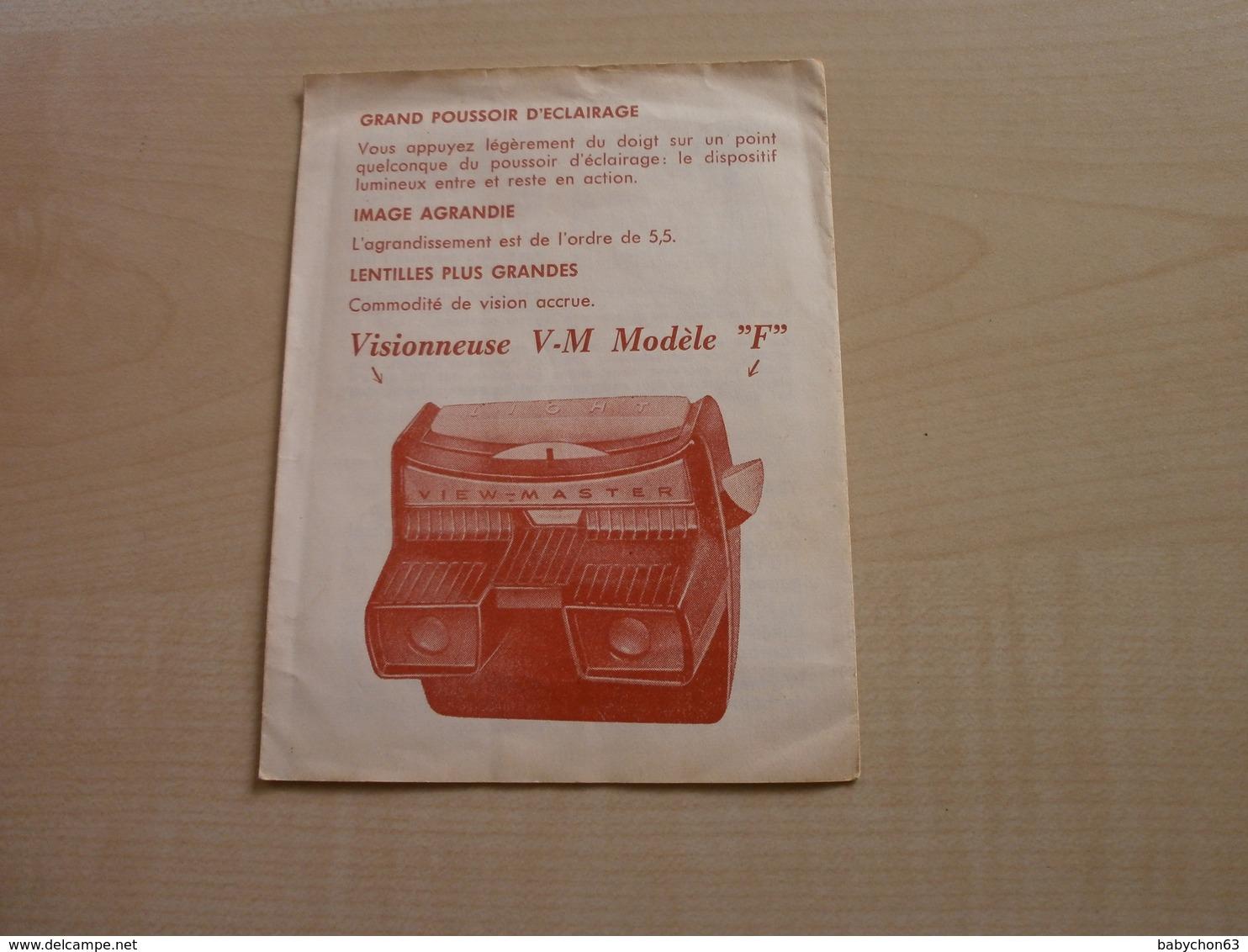 Ancien Dépliant Mode D'emploi VIEW-MASTER A ECLAIRAGE INCORPORE - Publicités