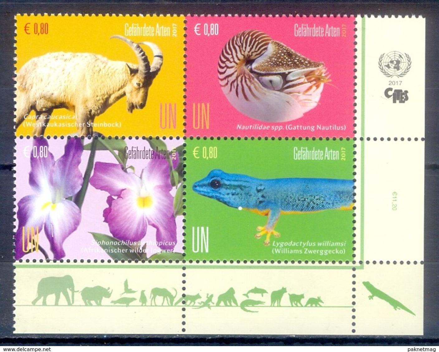 B152- United Nation. UNO ONU UN. Wenen 2017, Postfris Animals Flora. - UNO