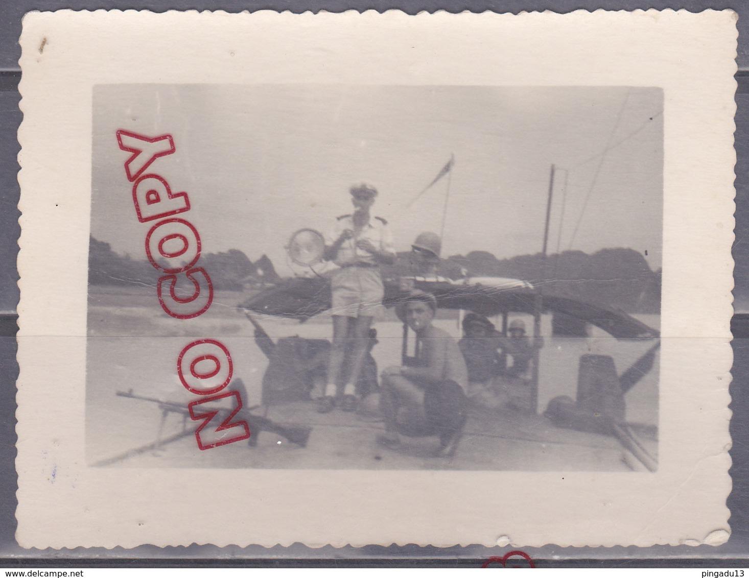 Au Plus Rapide Guerre Indochine Flottille Amphibie Archive Marin Navire Armement Beau Format - Krieg, Militär