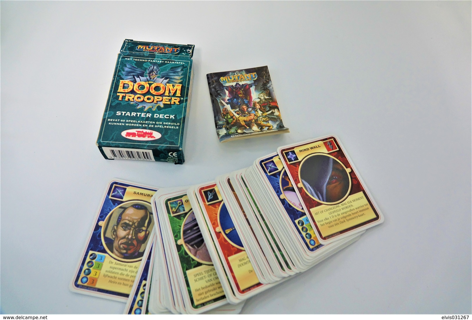 Speelkaarten - Kwartet, DOOM TROOPER - The Cardgame - Rulebook + Starter Deck  Collectable Playing Cards - 1995 - Cartes à Jouer Classiques