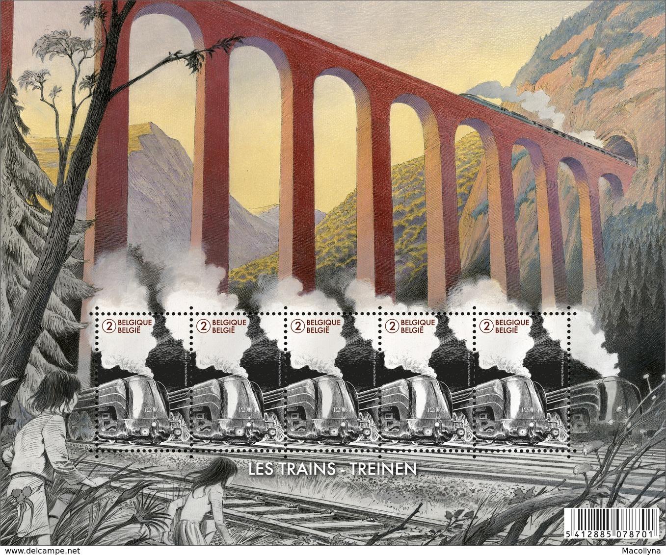 De Wereld V/d Trein 4445** In Origineel Mapje V/d Post - Le Monde Du Train (trés Beau) - Panes