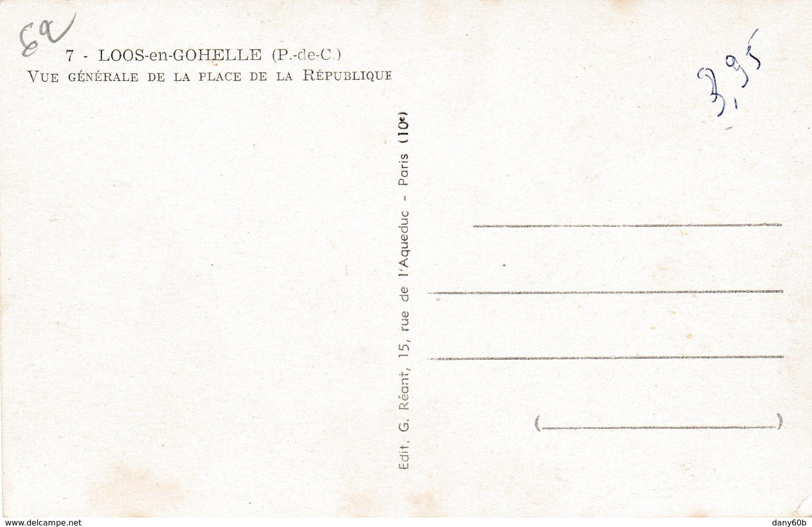 REF.HS . CPSM.PF . 62 . LOOS EN GOHELLE . PLACE DE LA REPUBLIQUE - France