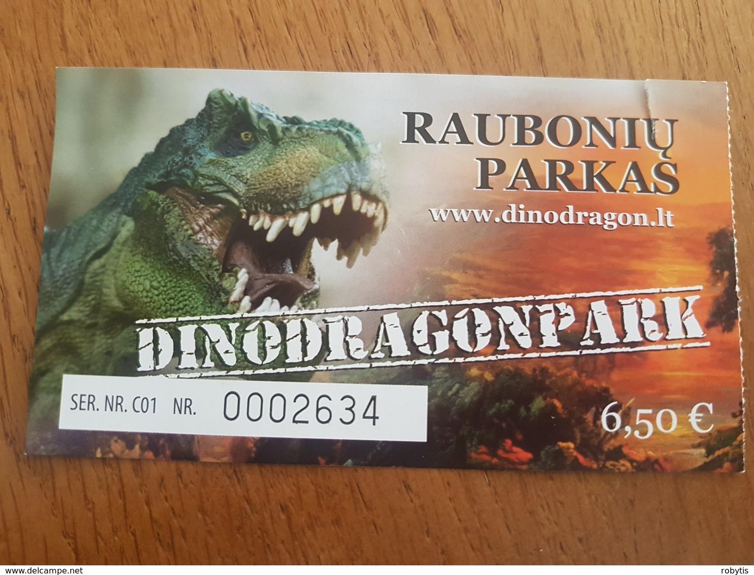 Lithuania Dinodragonpark Ticket 2019 Dinosaur - Tickets - Entradas