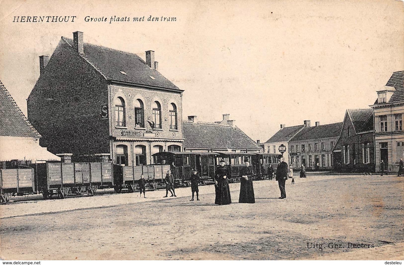 Groote Plaats Met Den Tram - HERENTHOUT - Herenthout