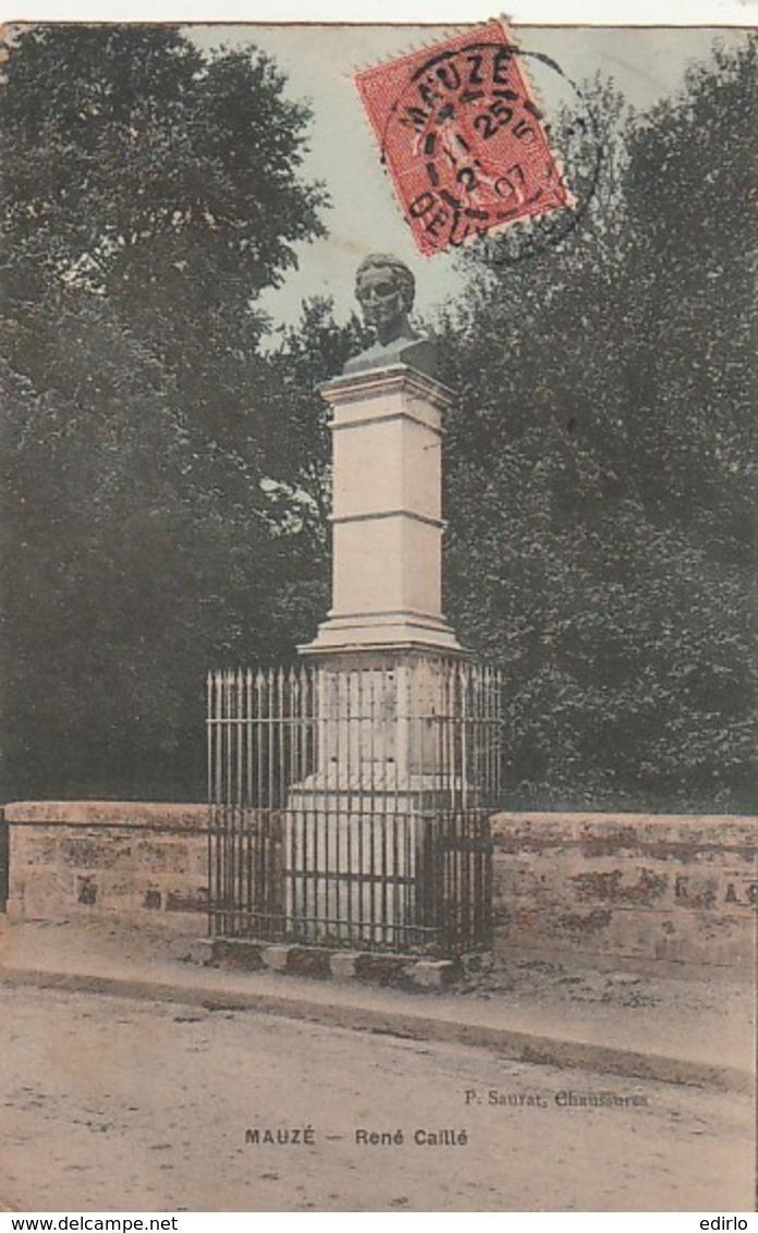 *** 79  ***  MAUZE Sur LIGNON  Statue De René Caillé TTB - Mauze Sur Le Mignon