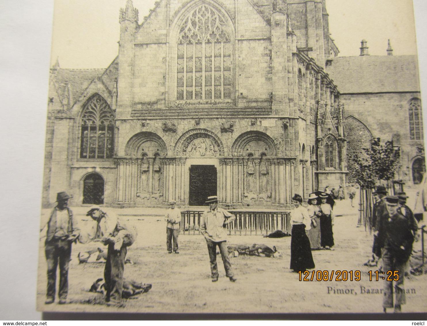 """Cpa DINAN (22) Eglise Saint Sauveur  """"animée"""" - Dinan"""