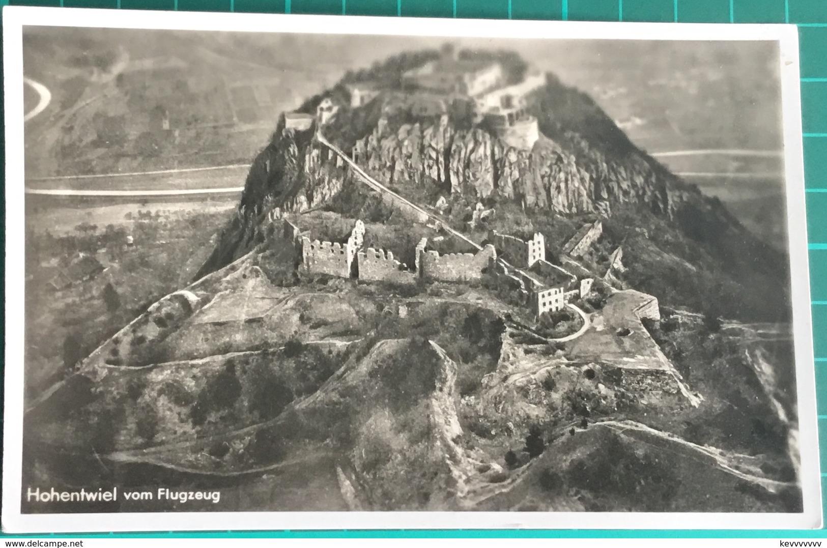 Hohentwiel Vom Flugzeug ~ Black & White Photo Postcard - Germany