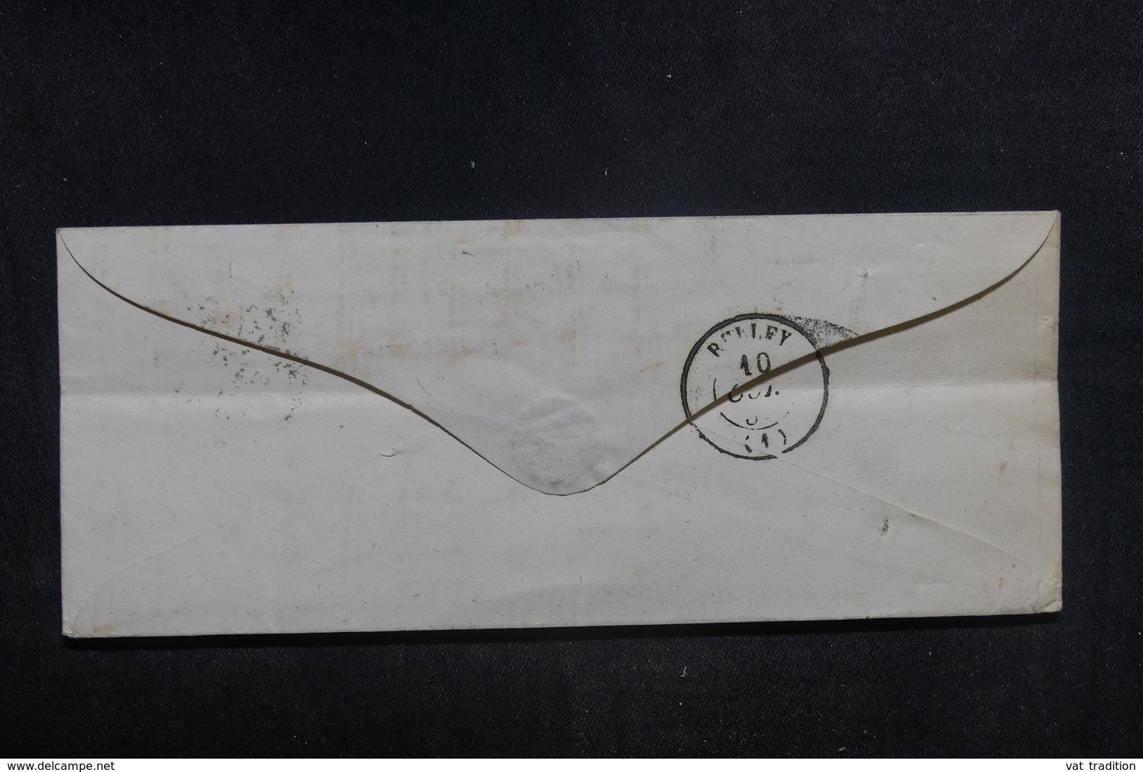 """FRANCE - Cachet D'entrée """" Sardaigne - Culoz - A.C."""" Sur Enveloppe Pour Belley - L 38595 - Storia Postale"""