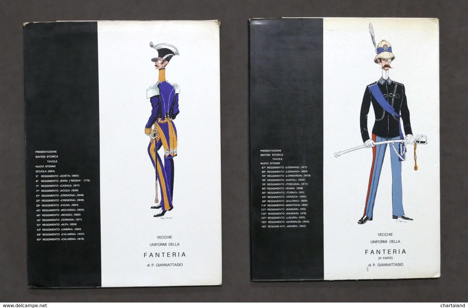 Militaria - P. Giannattasio - Vecchie Uniformi Fanteria - Opera Completa - 1972 - Documenti