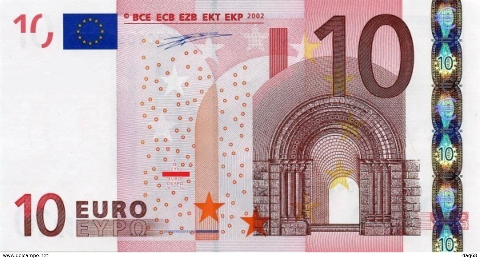 EURO IRELAND 10 T K003 UNC DUISENBERG - EURO