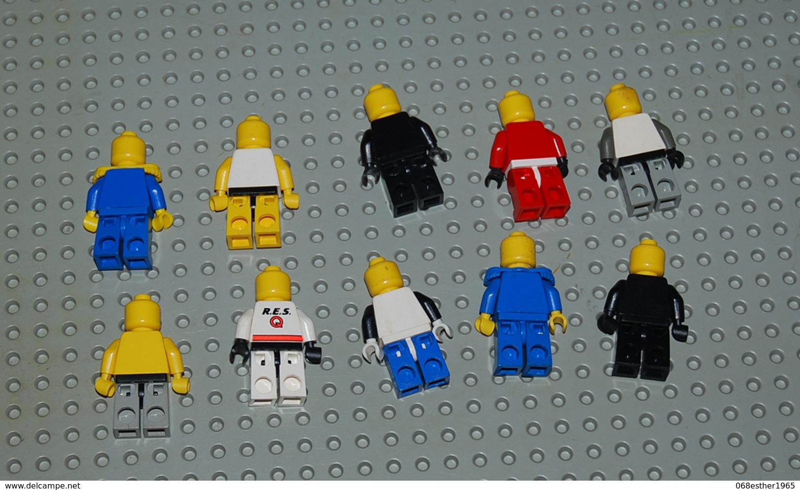 Lot 2) Lot De 10 Personnages Sans Chapeau - Lego Technic