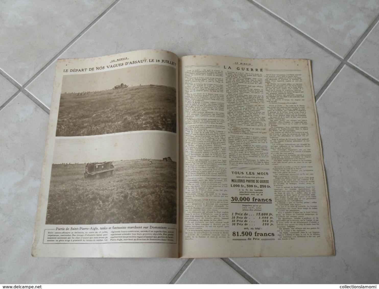 Le Miroir-la Guerre 1914-1918 (N°246) 11.8.1918 (Titres Sur Photos) Les Infos Sur La Vie Des Soldats Et Civiles - War 1914-18