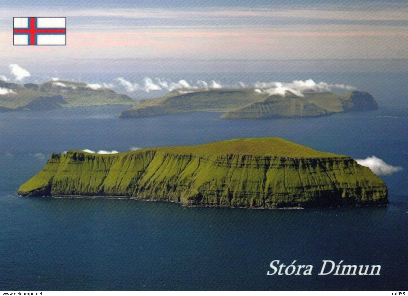 1 AK Faroe Islands Färöer * Die Insel Stóra Dímun (Groß-Dimun) Die Drittkleinste Der 18 Inseln Der Färöer * - Färöer
