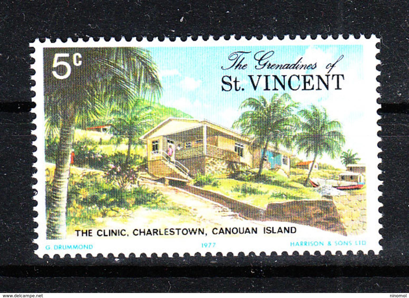Grenadine St. Vincent  - 1977. Clinica Medica Di Canouan. Canouan Medical Clinic. MNH - Medicina