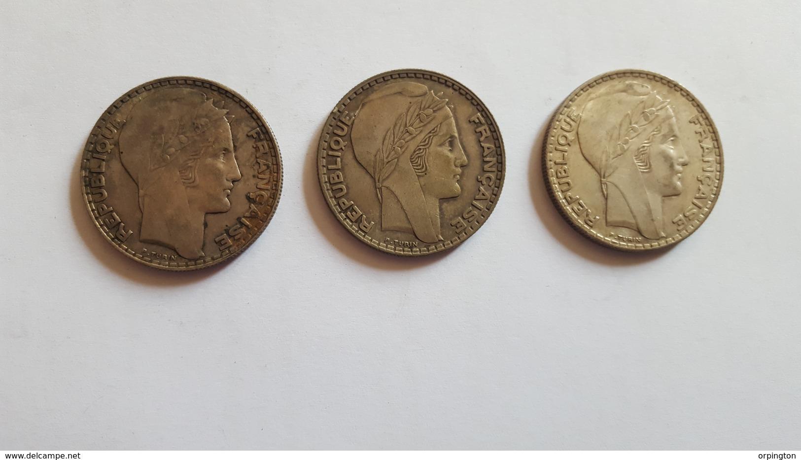 20 Francs Turin (3 Pièces) - Kilowaar - Munten