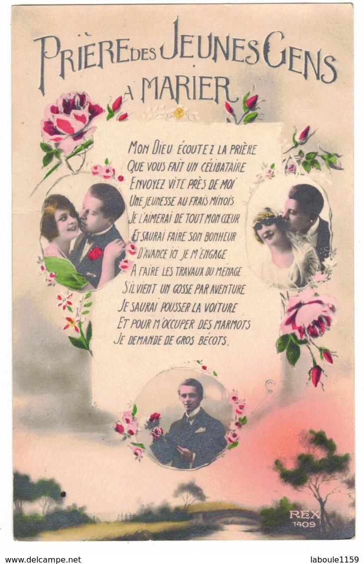 NOCE MARIAGE FANTAISIE PRIERE DES JEUNES GENS A MARIER PRIERE CELIBATAIRE POUR LES MARMOTS DEMANDE GROS BECOTS - Noces