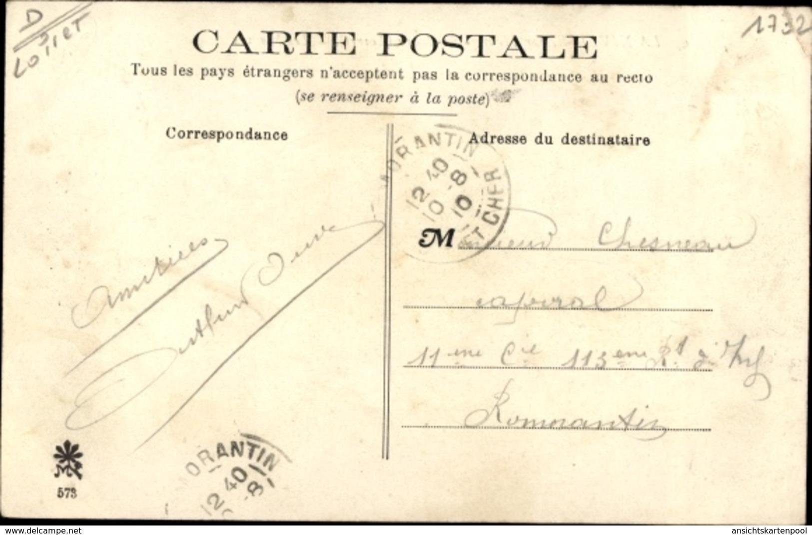 Cp La Nivelle Par Meung Sur Loire Loiret, Les Mauves - Otros Municipios