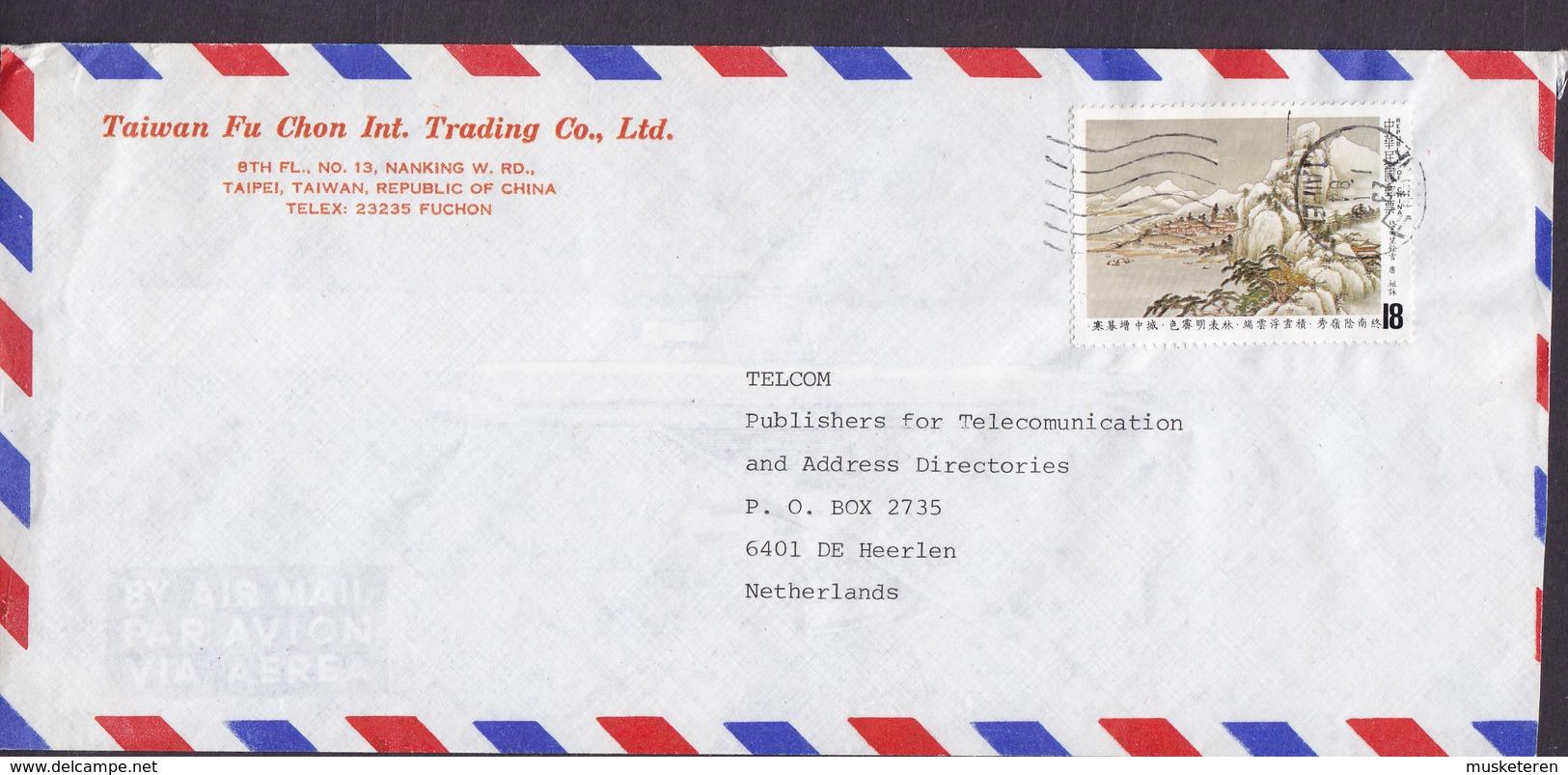 TAIWAN FU CHON INT. TRADING Co. TAIPEI 1984 Cover Brief HEERLEN Netherlands Chinesische Dichtkunst Tsu Yung - 1945-... Republik China