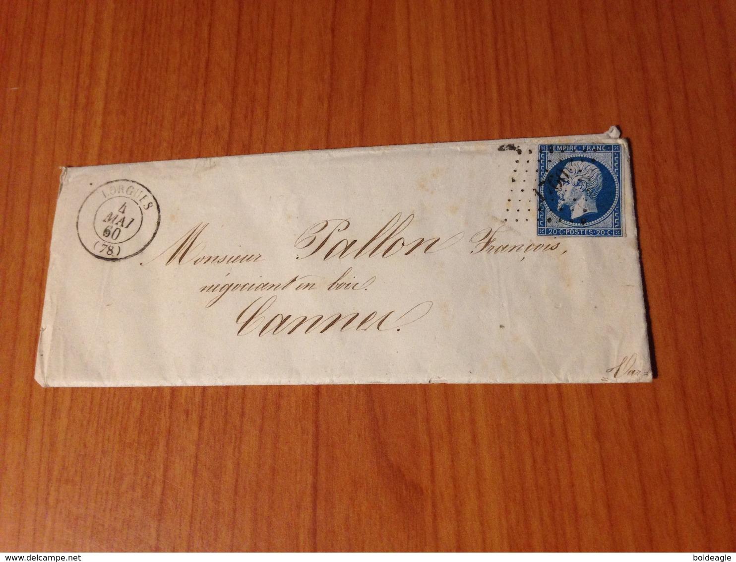 LORGUES (83-var) -  PC 1760 -  Lettre écrite - ( Port à Ma Charge ) - 1849-1876: Klassieke Periode