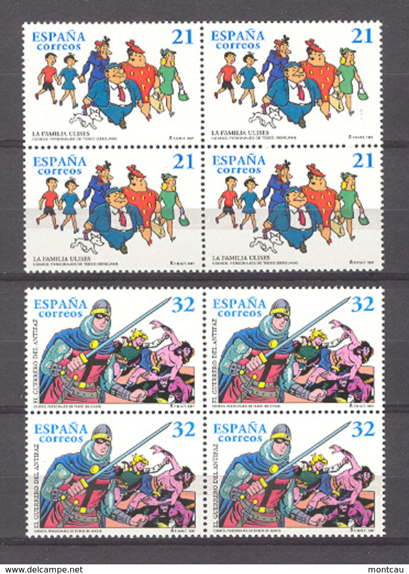 Spain 1997. Comics. Ed 3486-87 Bl (**) - 1931-Hoy: 2ª República - ... Juan Carlos I