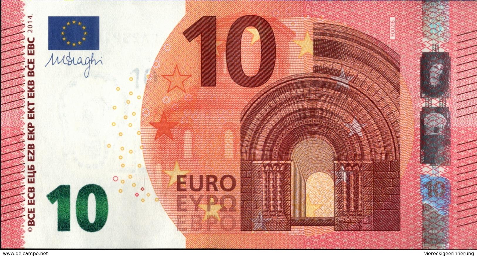 ! Unc. 10 Euro F002I6, FA2321198595,  Malta, Currency, Banknote, Billet Mario Draghi, EZB, Europäische Zentralbank - EURO