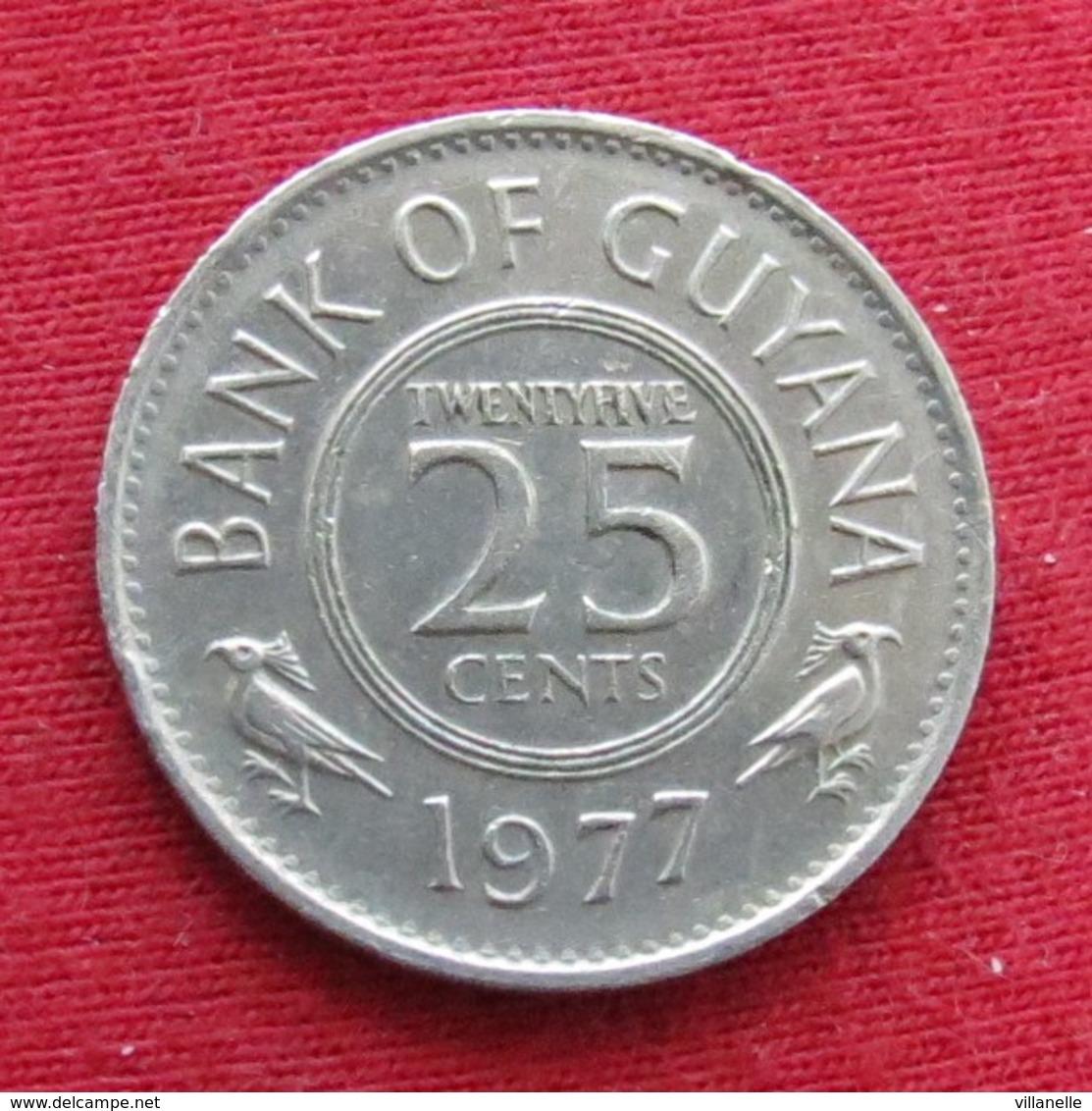 Guyana 25 Cents 1977 KM# 34 *V2 Guiana - Guyana