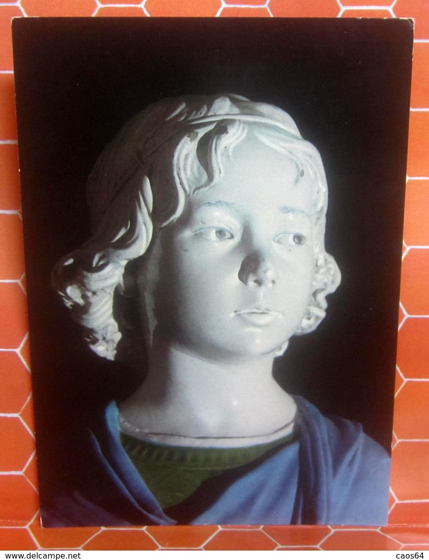 A. Della Robbia BUSTO FANCIULLO Museo Nazionale Firenze CARTOLINA   Viaggiata 1981 - Sculture