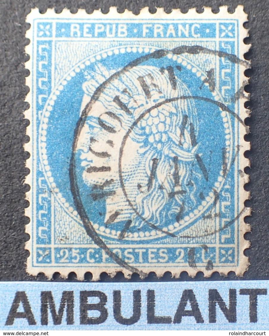 """R1615/643 - CERES N°60A - Cachet AMBULANT """" AVRICOURT à PARIS """" Du 4 JANVIER 1872 - BON CENTRAGE - 1871-1875 Ceres"""