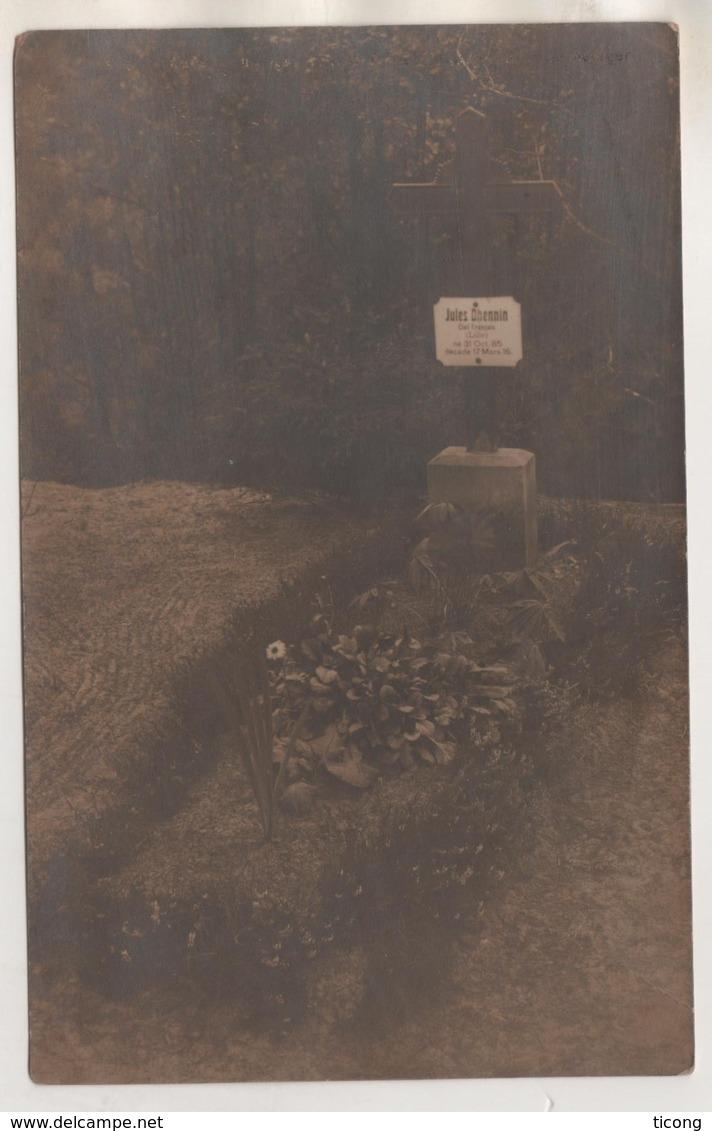 MILITARIA 1914 1918 - CAMP DE PADERBORN ALLEMAGNE, PHOTOGRAHIE D UNE TOMBE D UN SOLDAT FRANCAIS.... VOIR DETAIL - 1914-18