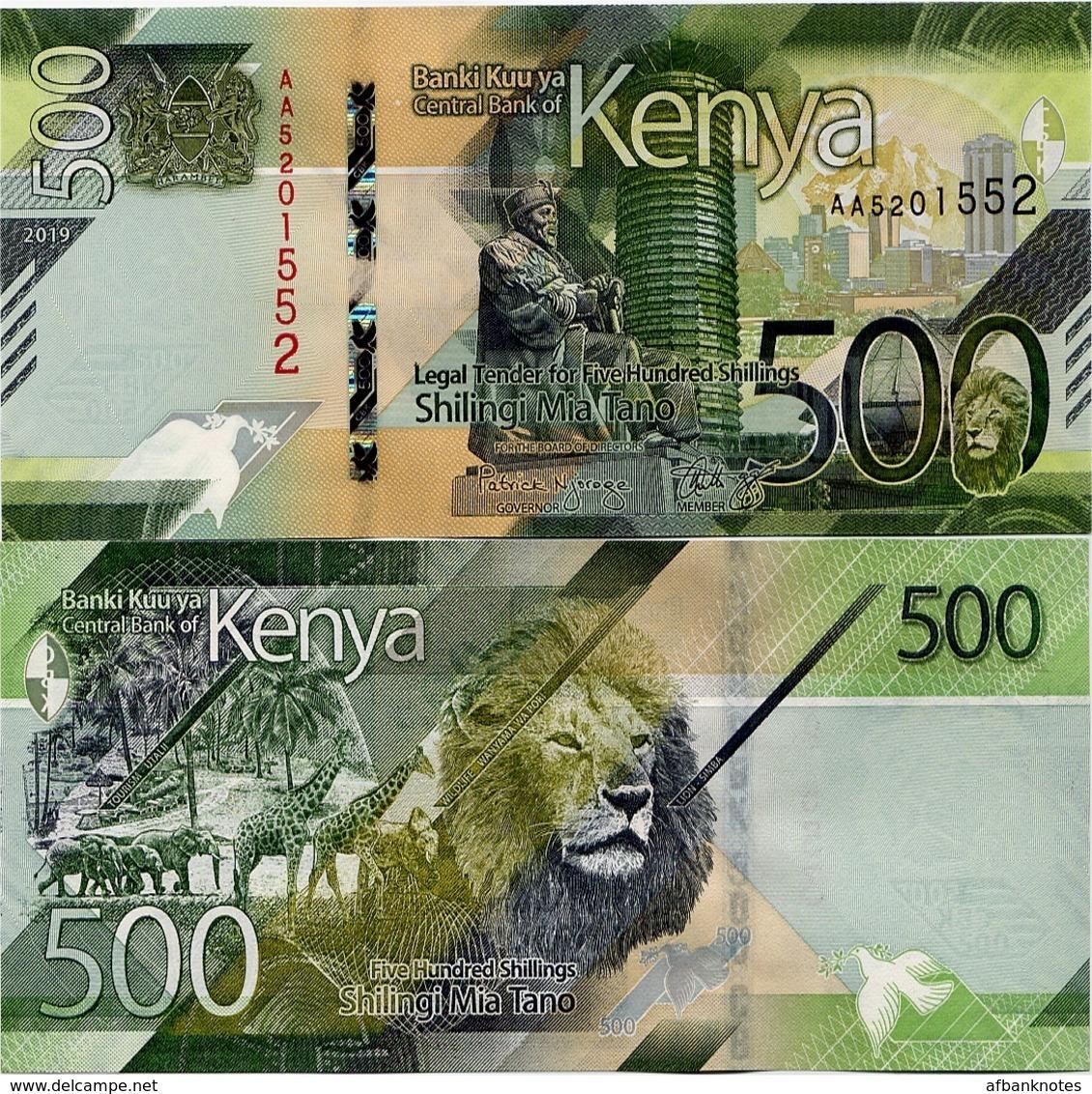 KENYA       500 Shilingi       P-New       2019       UNC - Kenia