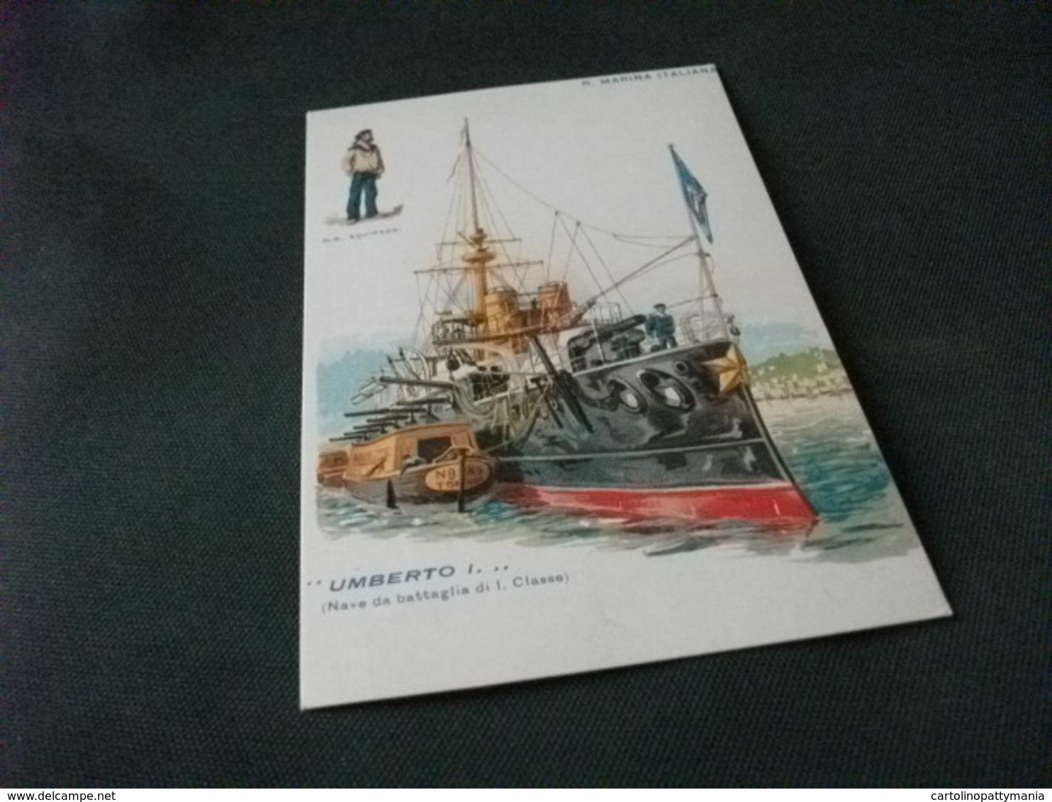 NAVE SHIP UMBERTO I NAVE DA BATTAGLIA DI I CLASSE  REGIA MARINA ITALIANA 2° MOSTRA MILITARIA IN EUROPA 1990 RIPRODUZIONE - Guerra