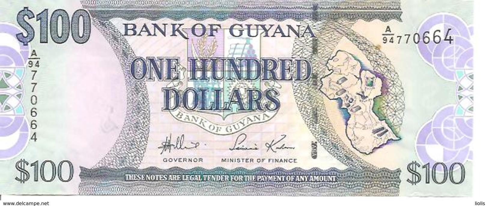 Guyana P-36a 100 Dollars 2006 UNC - Guyana