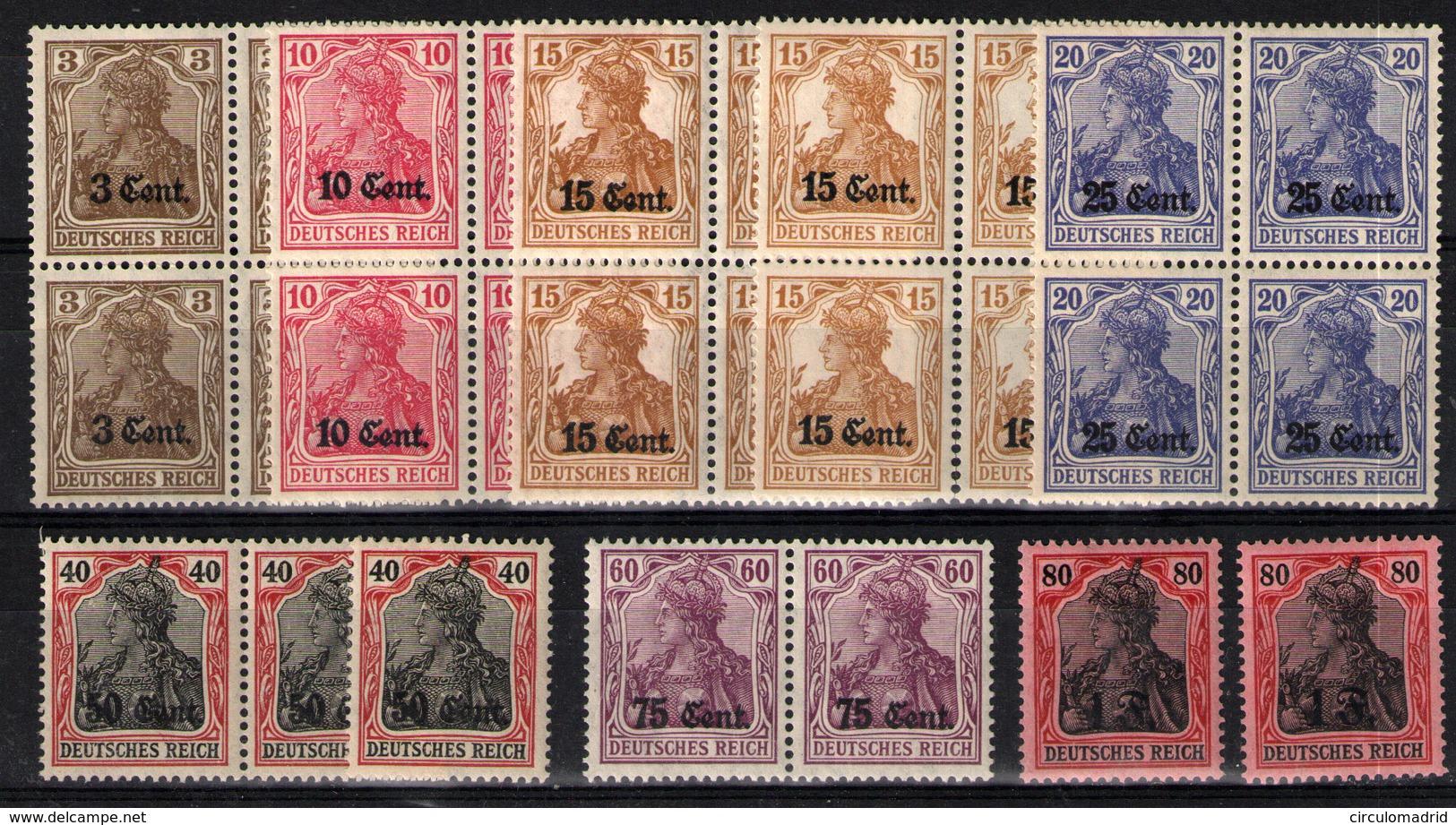 Bélgica (Ocupación Alemana).  Nº 26, 24/31, 33/35. Año 1916-17 - Invasion
