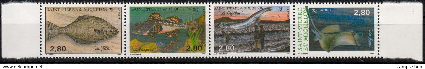 St. Pierre MiNr. 658/61 ** Fische - St.Pierre & Miquelon