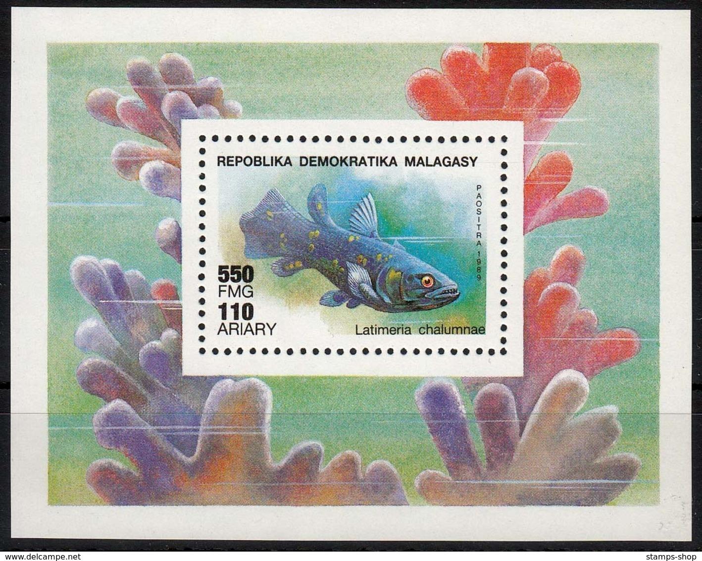 Madagaskar MiNr. Bl. 124 ** Fische - Madagaskar (1960-...)