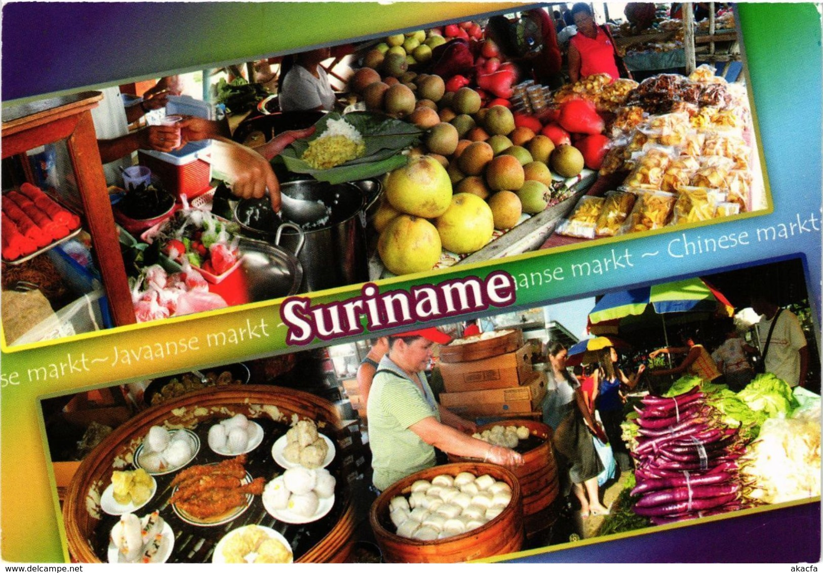 CPM SURINAME-The Javanese And The Chinese Market (330384) - Surinam