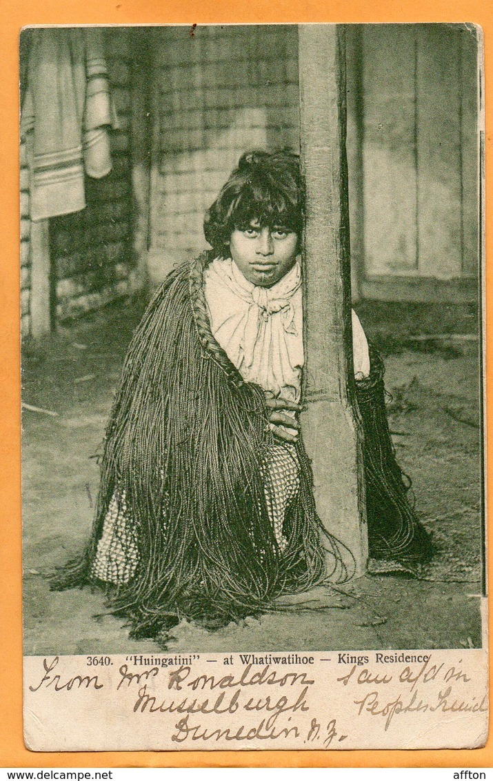 Huingatini New Zealand 1905 Postcard Mailed - New Zealand