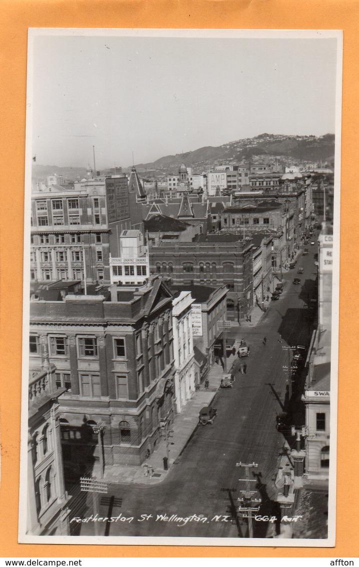 Wellington New Zealand Old Real Photo Postcard - New Zealand