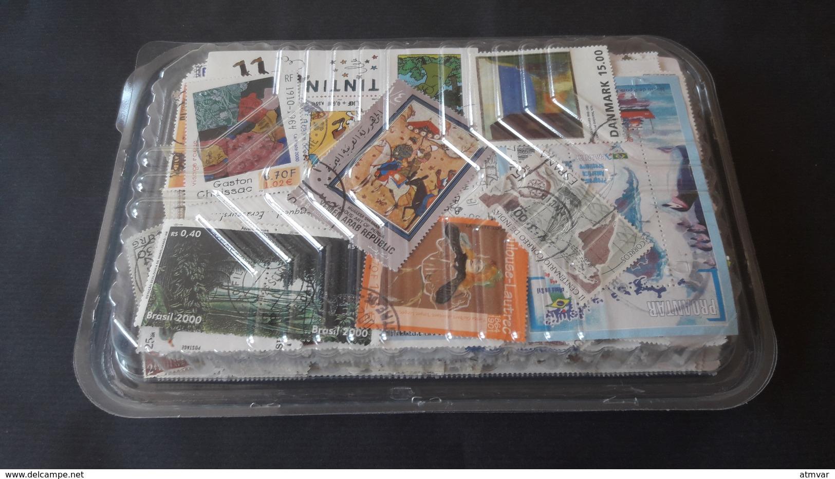 WORLDWIDE - KILOWARE 150 G. Sellos Usados, Sin Papel / Used Stamps, No Paper / Timbres Oblitérés, Sans Papier - Mezclas (max 999 Sellos)