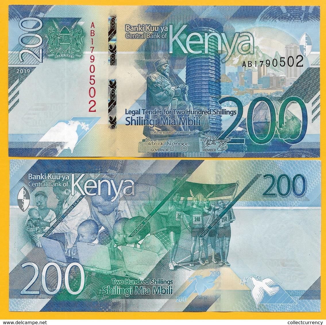 Kenya 200 Shillings P-NEW 2019 UNC Banknote - Kenya