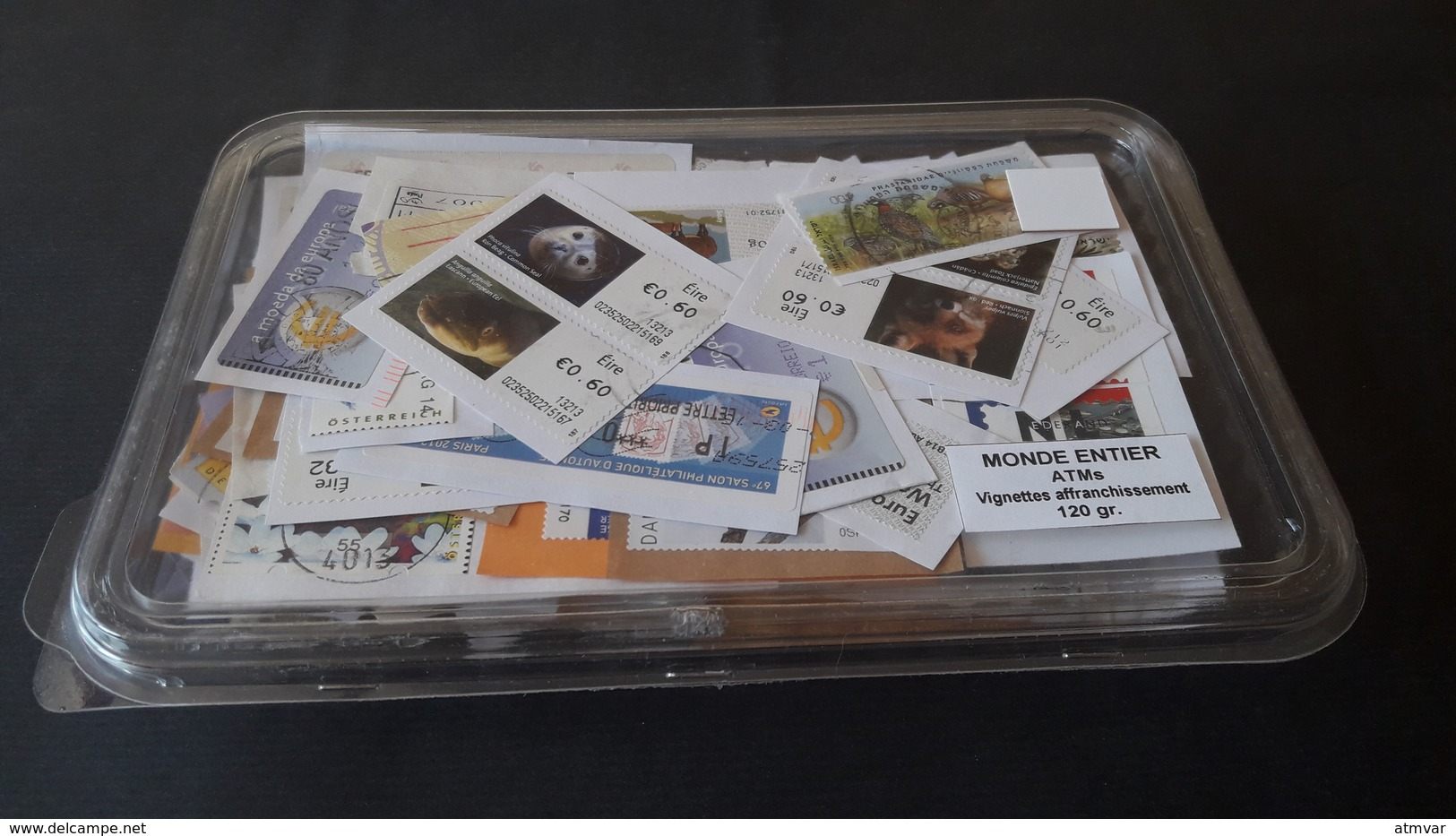 WORLDWIDE - KILOWARE 120 G. ATM - Sellos Usados, Con Papel / Used Stamps, On Paper / Timbres Oblitérés, Sur Papier - Sellos