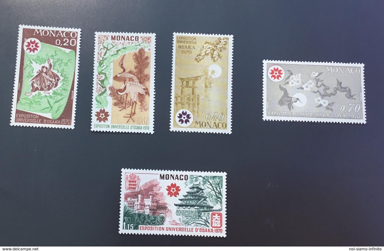 Monaco 1970 Expo Osaka 822-826 Neufs** - Mónaco