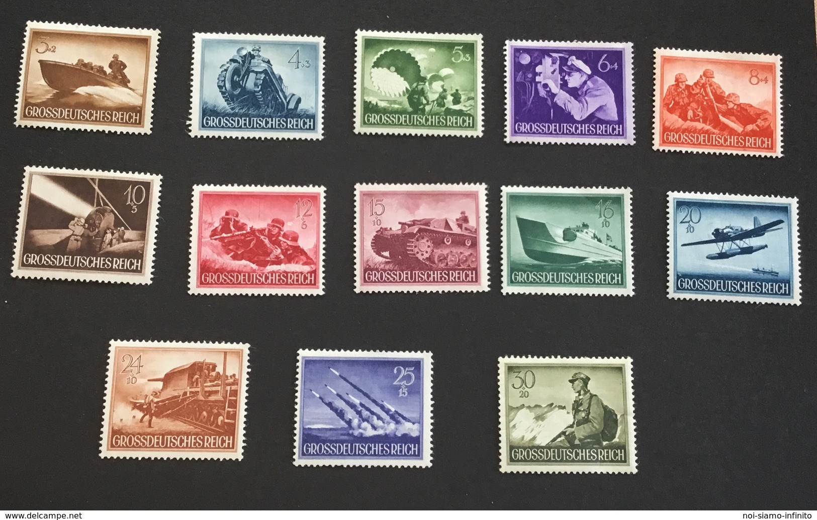 Allemagne III Reich 1944 Héros Neufs - Unused Stamps