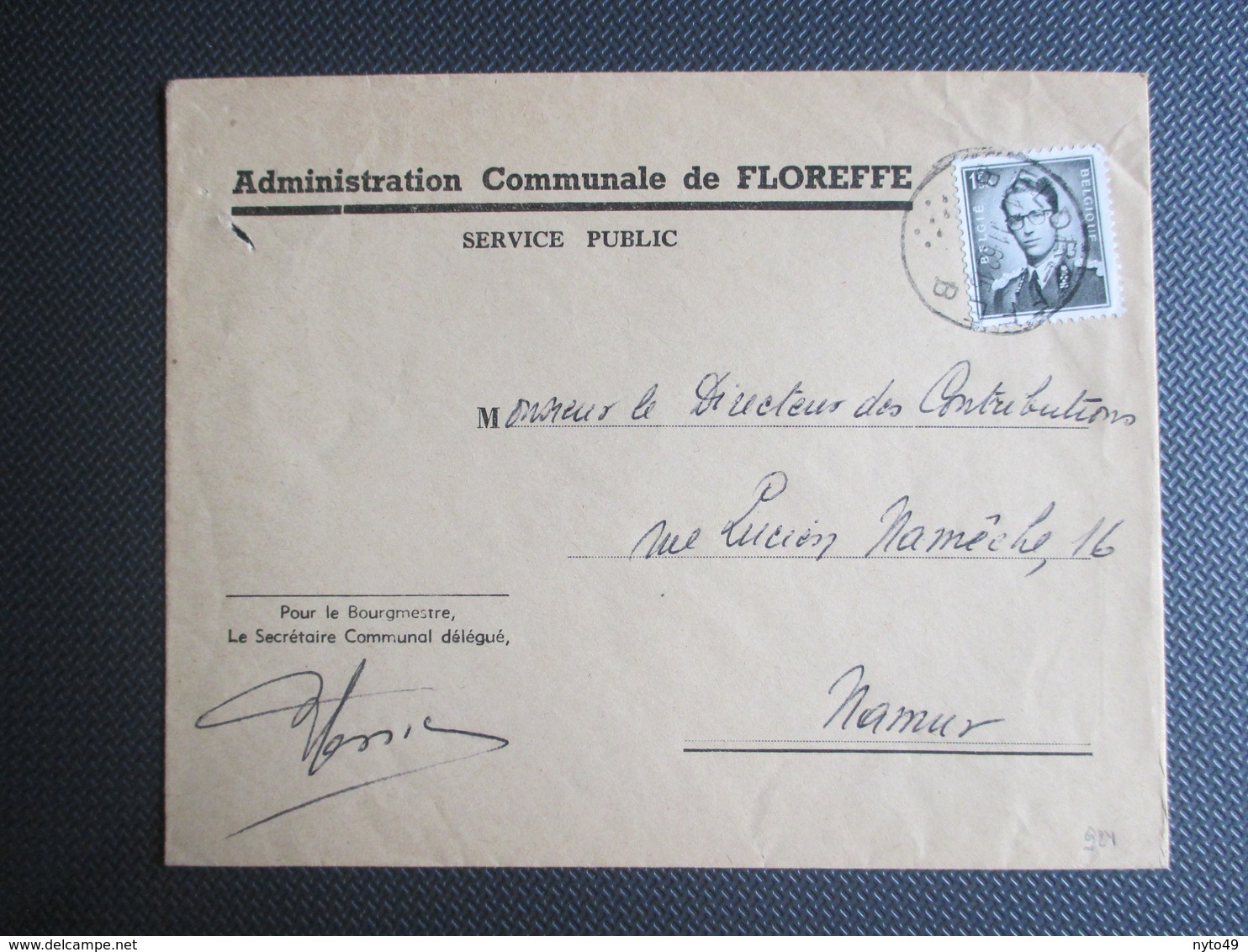 924 - Boudewijn Marchand - Op Gemeentebrief Uit Floreffe - Belgien