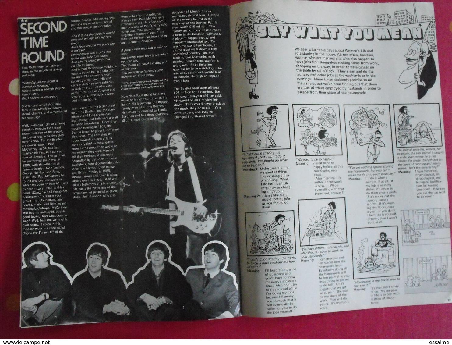 Lot De 9 Revues En Anglais. Current. 1976 - Langue Anglaise/ Grammaire