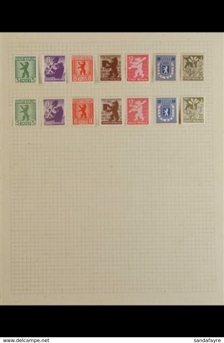 RUSSIAN ZONE 1945-1949. An Attractive & Fresh MINT COLLECTION Presented On Album Pages, Includes Berlin & Brandenburg 19 - Duitsland