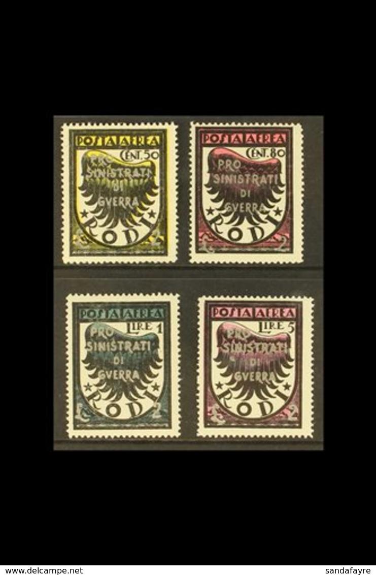 EGEO (DODECANESE ISLANDS) GERMAN OCCUPATION 1944 Air War Victims' Relief Overprints Complete Set (SG 232/35, Sassone 56/ - Italie