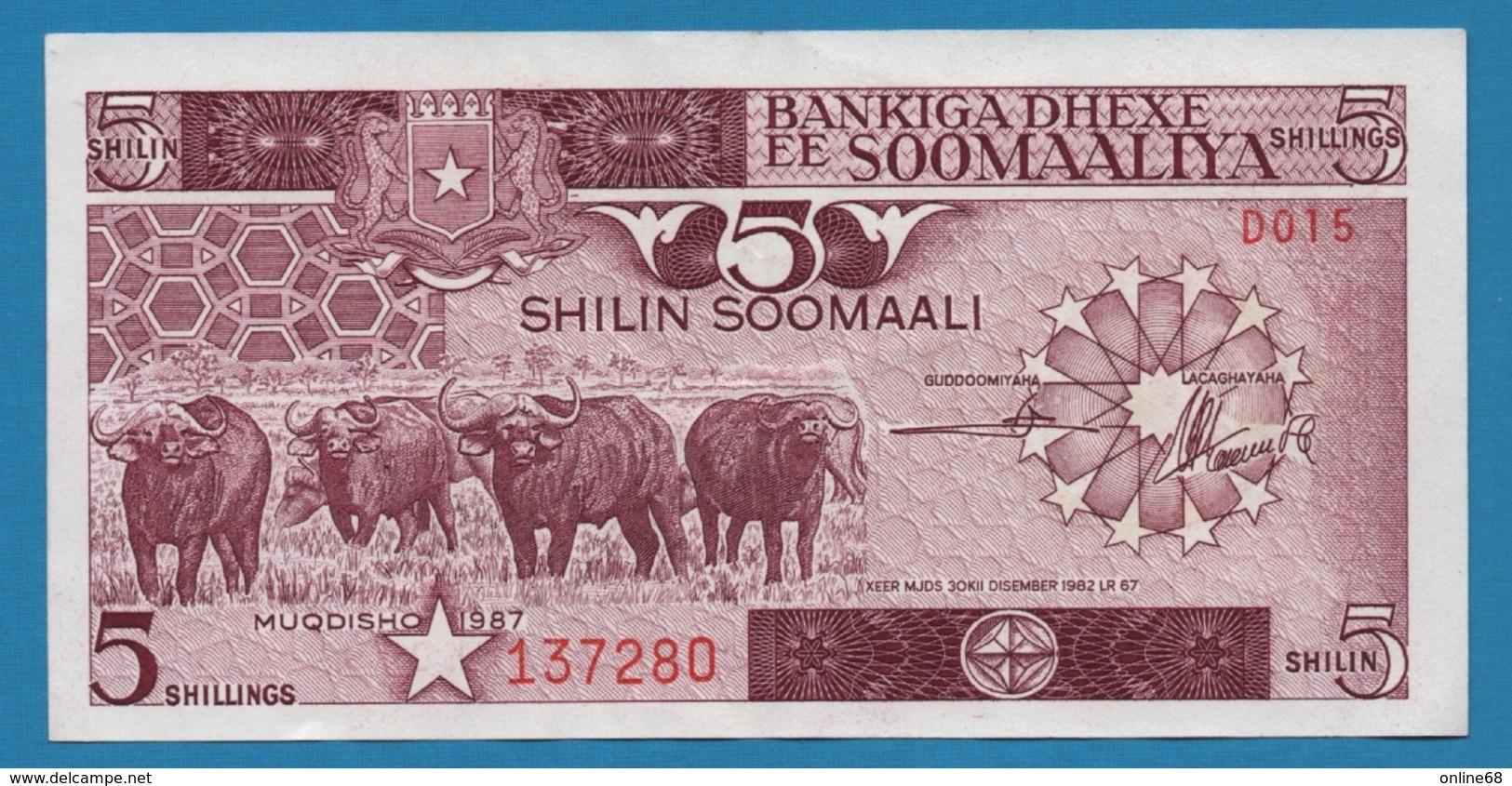 SOMALIA 5 Shilin Soomaali1987# D015 137280 P# 31c - Somalia